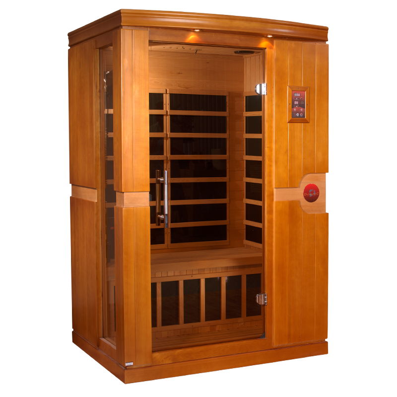 orbit 2 person infrared sauna 2 backrests amp ionizer